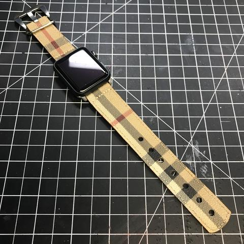 Custom Burberry Apple Watch Band