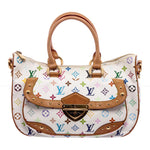 LV White Multicolore Monogram Rita Shoulder Bag
