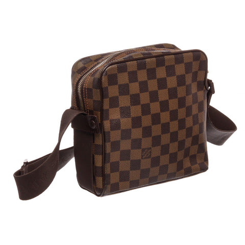 Louis Vuitton Damier Ebene Canvas Leather Olav PM Crossbody Bag