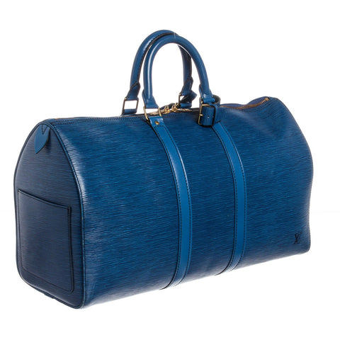 Louis Vuitton Epi Leather Keepall 45 cm Duffle Bag 'Blue'