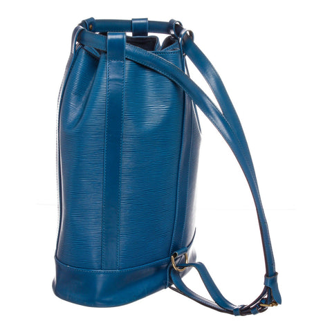 Louis Vuitton Epi Leather Randonne GM Backpack Bag 'Blue'