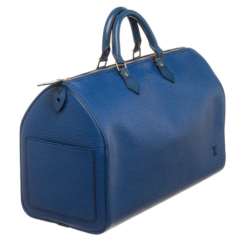 Louis Vuitton Epi Leather Speedy 40 cm Bag 'Blue'