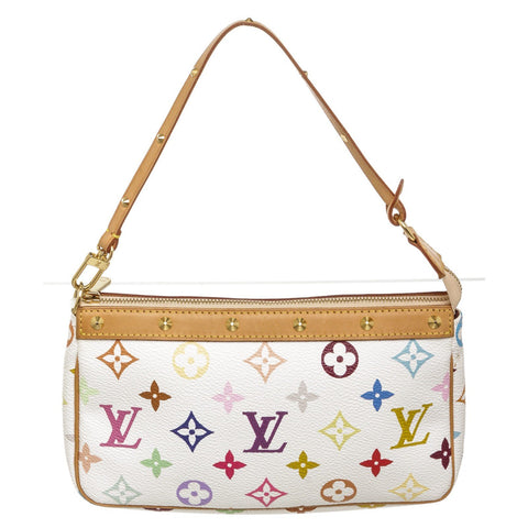 Louis Vuitton Monogram Pochette Bag 'White Multicolor'