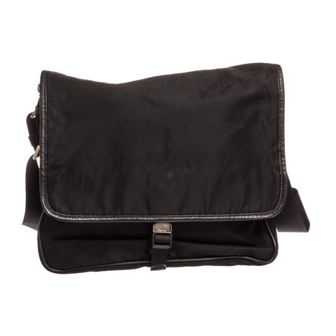 Prada Nylon Messenger Bag 'Black'