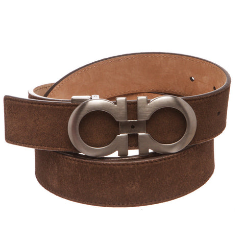 Salvatore Ferragamo Gancini Leather Belt 110 'Brown'