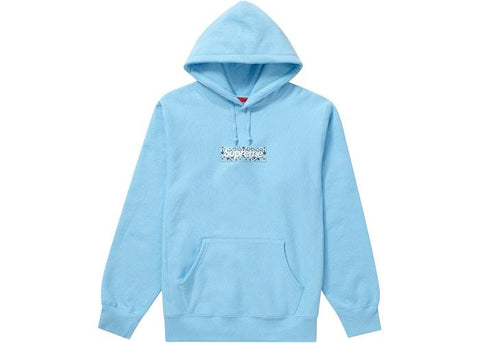 Supreme Bandana Box Logo Hooded Sweatshirt 'Light Blue'