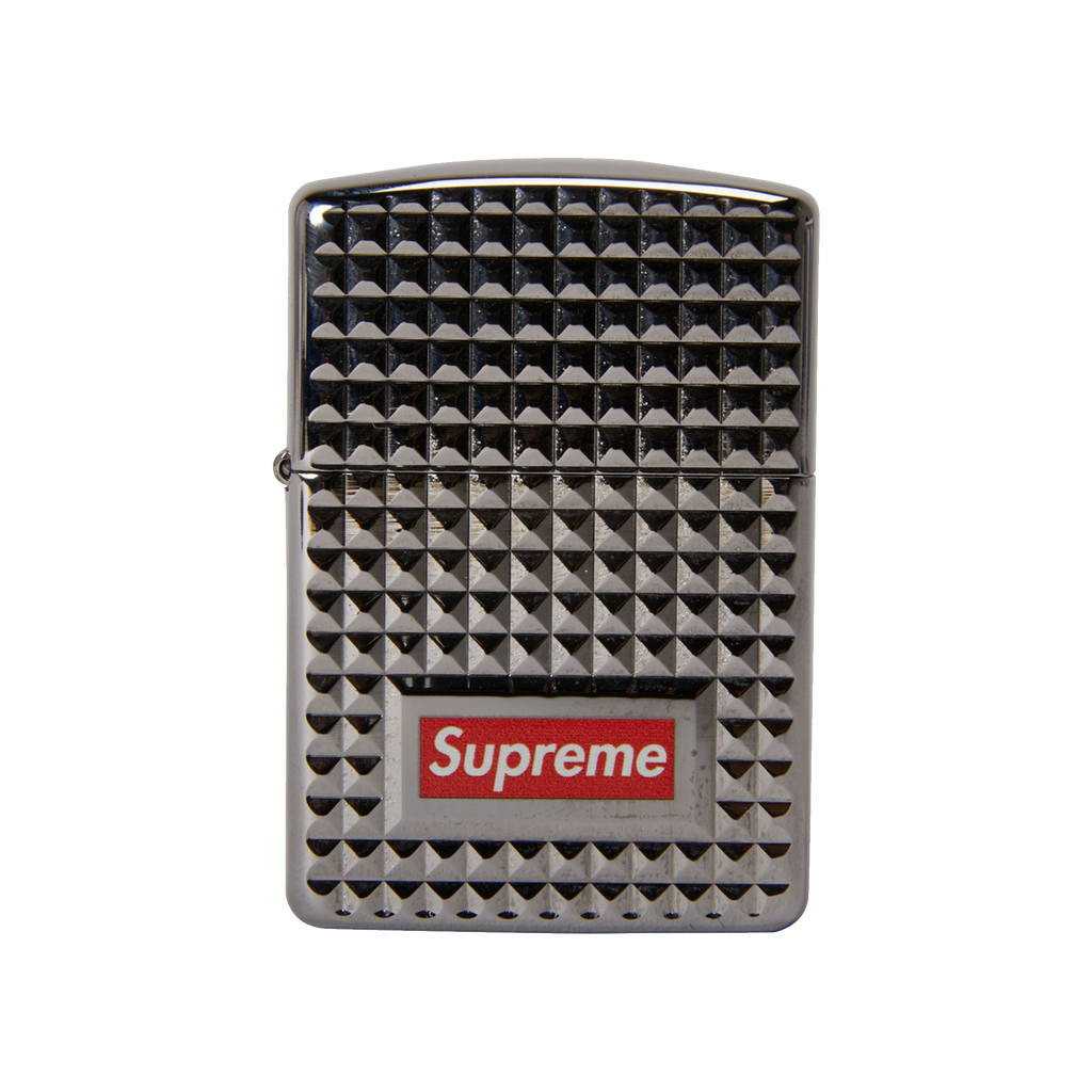 new product 1454d b3703 Supreme Diamond Cut Zippo Lighter  Silver