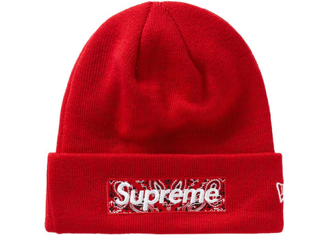 Supreme New Era Bandana Box Logo Beanie FW19