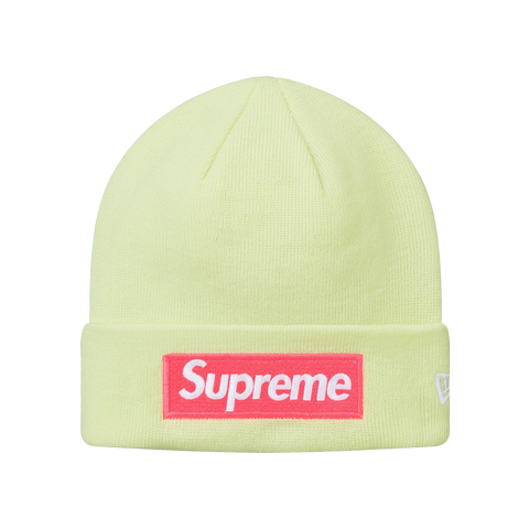 Supreme New Era Box Logo Beanie FW17 'Pale Lime'
