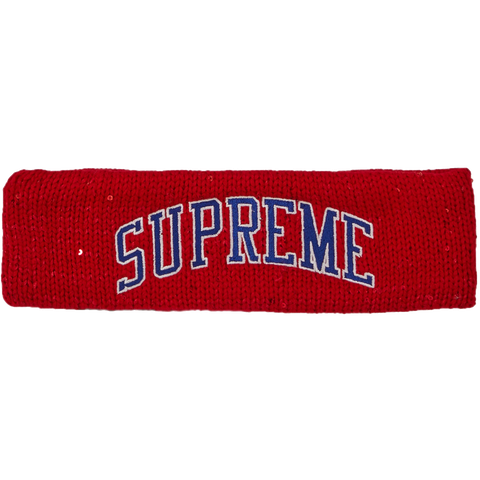 Supreme New Era Sequin Arc Logo Headband 'Red'