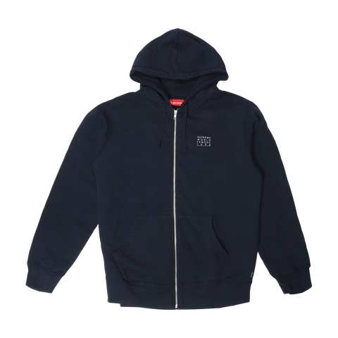 Supreme World Famous Zip Up Hoodie 'Navy'