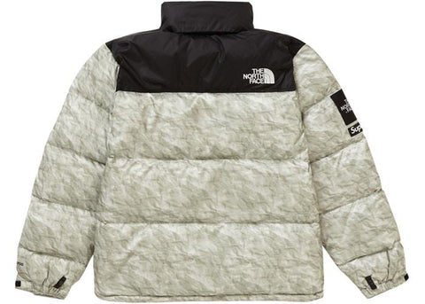 Supreme x The North Face Paper Print Nuptse Jacket 'Paper Print'