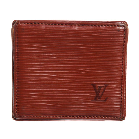 Louis Vuitton Epi Leather Porte-Monnaie Boite Coin Purse 'Brown'