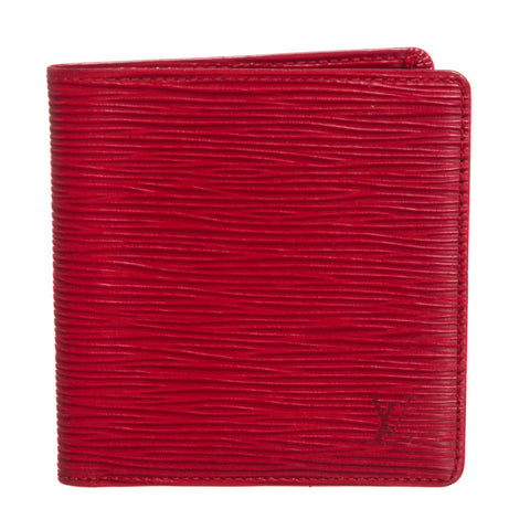 Louis Vuitton Epi Leather Porte-Billets 6 Cartes Credit Wallet 'Red'
