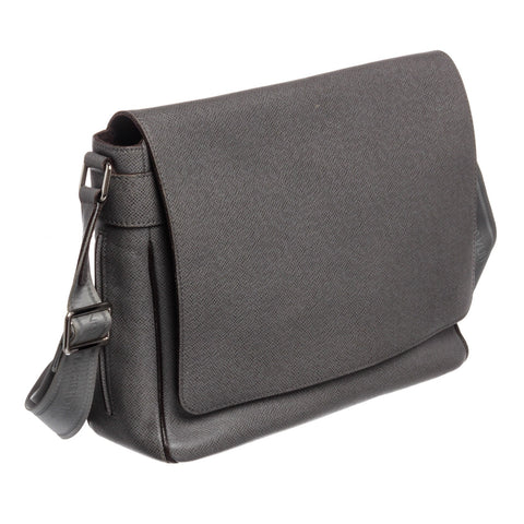 Louis Vuitton Taiga Leather Roman MM Messenger Bag 'Gray'
