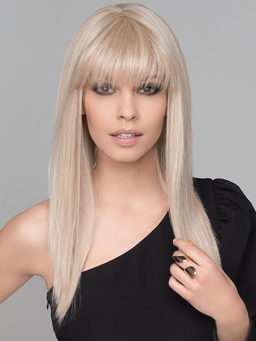 2 Tone Dark Roots With Baby Hair Ombre Blonde Color#4/613 Straight Full Lace Wigs 130% Density