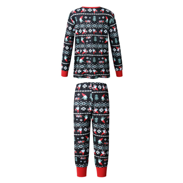 Family Wear Christmas Black Pajama for Kids