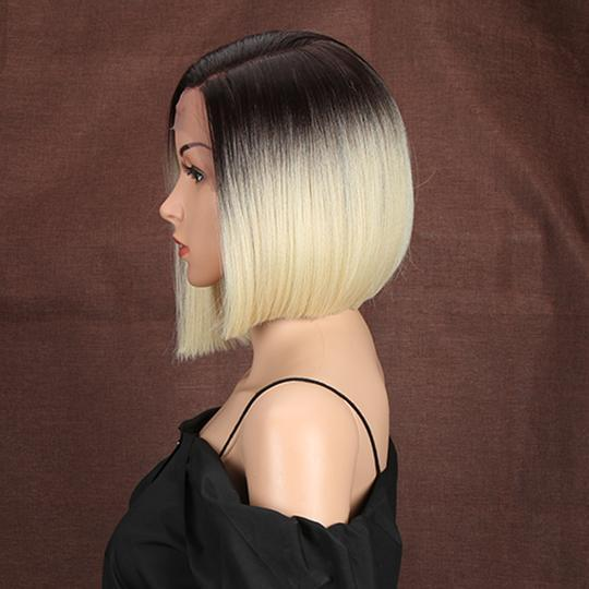 High quality lace front wig bob short natural hairline