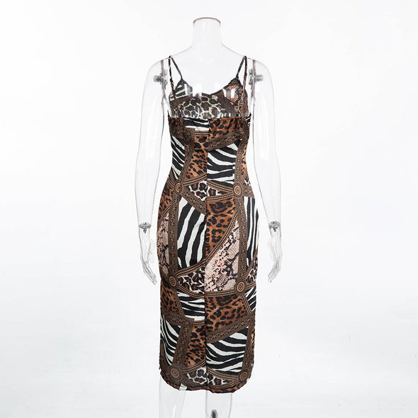 Sexy Leopard and Snake Skin Bedroom Dress