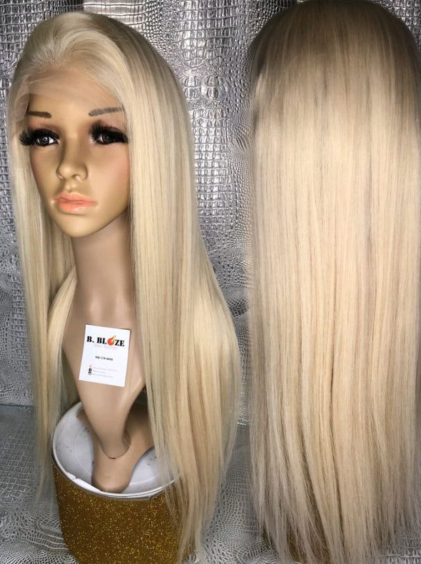 Lace Front Wig Blonde Wig Long Hair #60 Ash Blonde Lace Wig