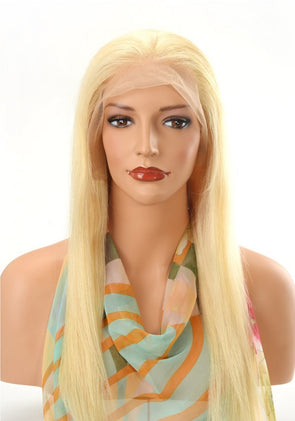 Lace Front Wig Blonde Wig Long Hair Human Hair Wigs Parrucca per Donna Capelli Lunghi Veri Biondi Sconti Online