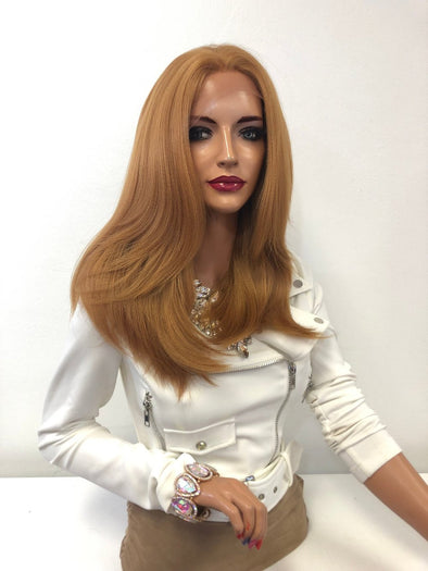 "Dark Blonde Volume Hair Lace Front Wig 12"" Reba 01 19"
