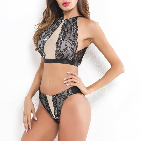 Sexy Lace Scoop Bra Set