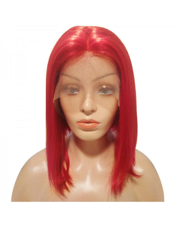 Lace Bob Red Straight Wigs For African American Women The Same As The Hairstyle In The Picture