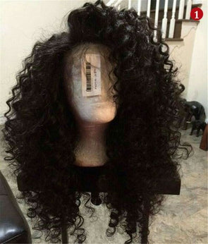26 Inch Off Black Full Big Volume Long Curly Heat Resistant Wig