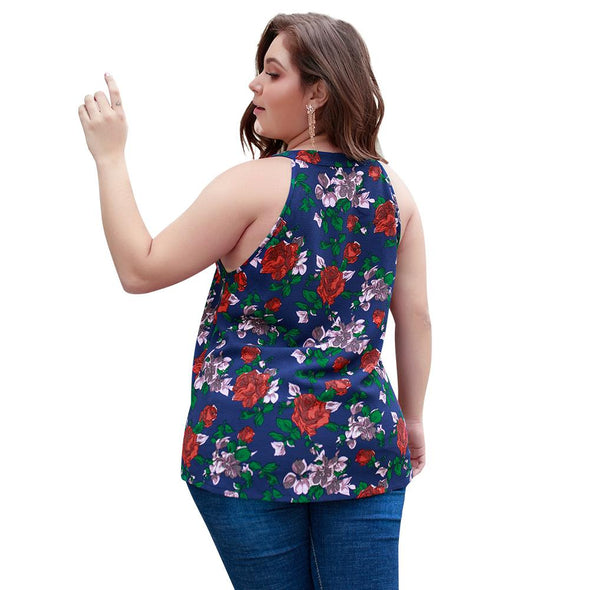 Plus Size Flower Tank Top