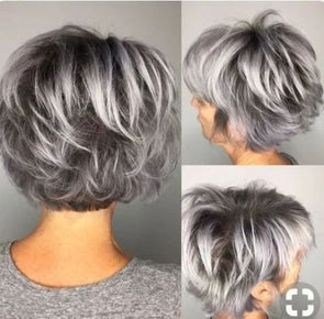 2019 Human Short Wigs Grey Short Hair Wig Ombre Bob With Lace Front 4x4Brazilian Remy Hair Wigs Hairline Glueless