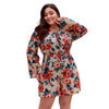 Plus Size Long Sleeve Floral Rompers