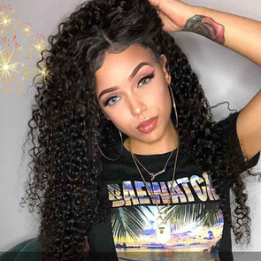 High quality lace front wig Curly Hair 360 Lace Wig 100% Real Human Hair Wigs natural hairline