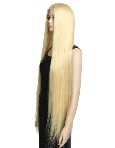 100% 1b natural hair wig Brazilian human hairLong lace wig 613 blonde 10a grade silky Straight lace wig