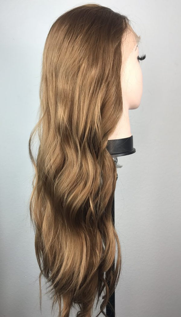 "High quality lace front wig  Light Brown 24"" natural hairline"