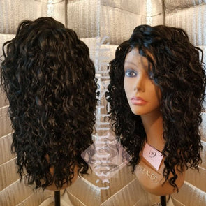 Curly Human Hair Wig Pre plucked with Baby Hair Glueless Lace Frontal Human Hair Wig for Black Women