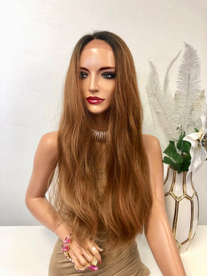 Brown Brunette Ombre Frontal Swiss Lace Front Wig | Pleasant One 1218 62