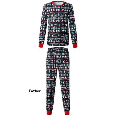 Family Wear Christmas Black Pajama for Father
