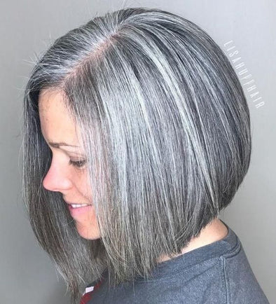 Gray Wig Lace Frontal Wigs best hair products for gray frizzy hair