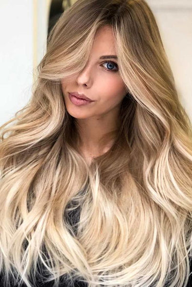 130% Dark Roots Ombre Ash Blonde 613 Colored Lace Front Human Hair Wigs Pre Plucked Baby hair