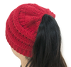 Knitted Horsetail Hat, Wool Hat for Women, 2019