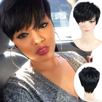 Black Lace Bob Wigs For African American Women The Same As The Hairstyle In The Picture