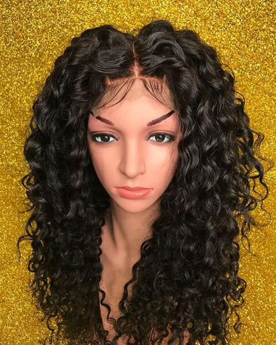Curly Lace Front Wigs Natural Color Long Jerry Curly 13*4 Lace Front Wigs High Quality