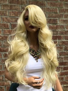 Lace Front Wig Natural Wave Mix Blonde Heat Resistant Fiber Hair Natural Hairline Side Part For Women Girls