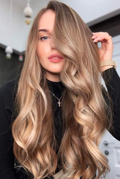 150 Density Dark Roots Ombre Honey Blonde Lace Front Human Hair Wigs with baby Hair Wavy Brazilian Virgin Wig for Black Women
