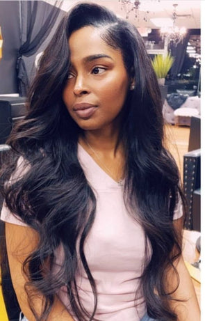 Body Wave 3 Bundles With Frontal Rabake Tair 8A Malaysian Virgin Hair With Frontal Best Human Hair For Sale