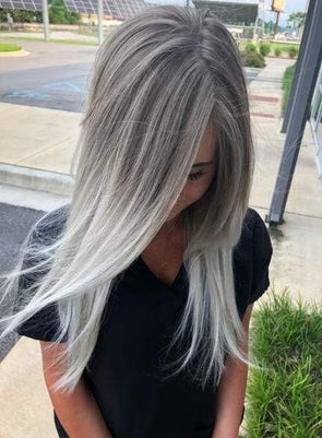 Gray Wig Lace Frontal Wigs best hair oil to stop grey hair
