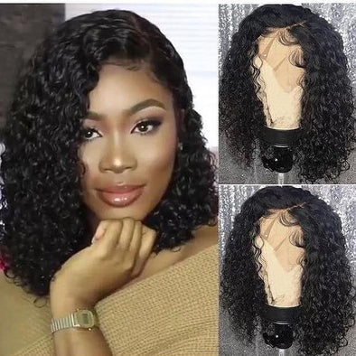 Lace Front Black Wigs Natural Color African Short Curly Hairstyles African Short Curly Hairstyles Free Shipping