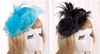 Bride hat Ostrich Feather Hat retro linen headdress hairdress formal hat
