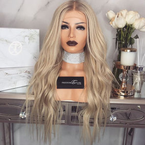 Lace Frontal Wig Pre Plucked Remy Lace Wigs Blonde Lace Front Human Hair Wigs Brazilian Body Wave